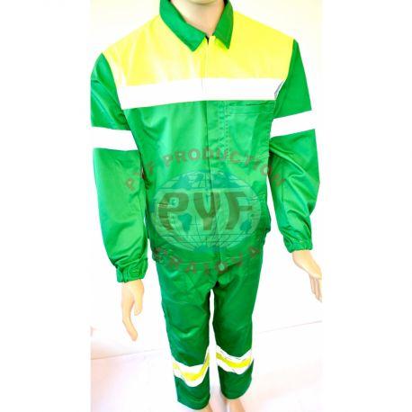 Costum Salopeta Clasica Combinata cu Benzi