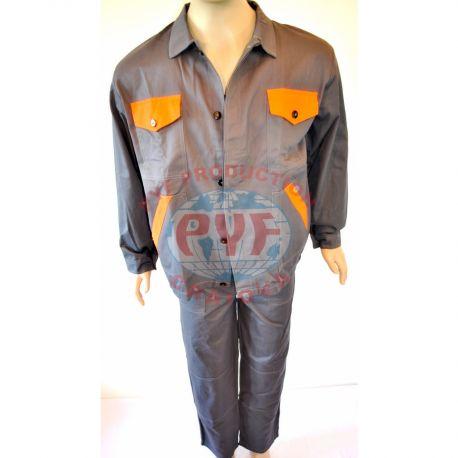 Costum salopeta clasica cu insertii