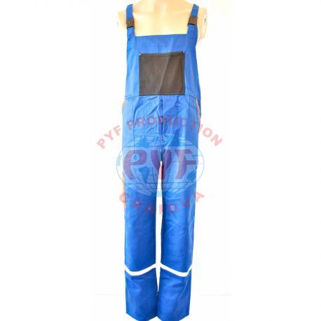 Pantalon Cu Pieptar Combinat cu Benzi