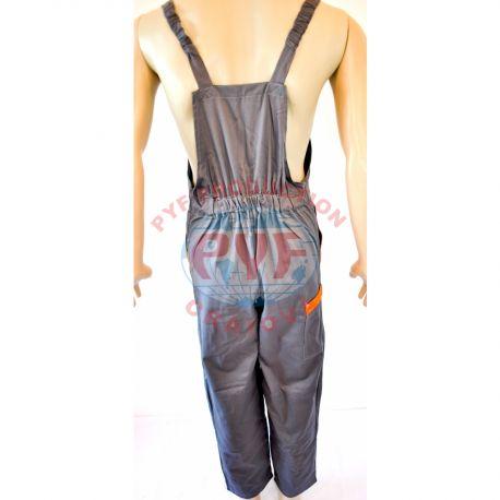 Pantalon cu Pieptarcu Insertii Color